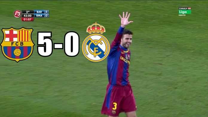 Jelang El Clasico, Real Madrid Diingatkan Soal Kekalahan 5-0 dan 6-2