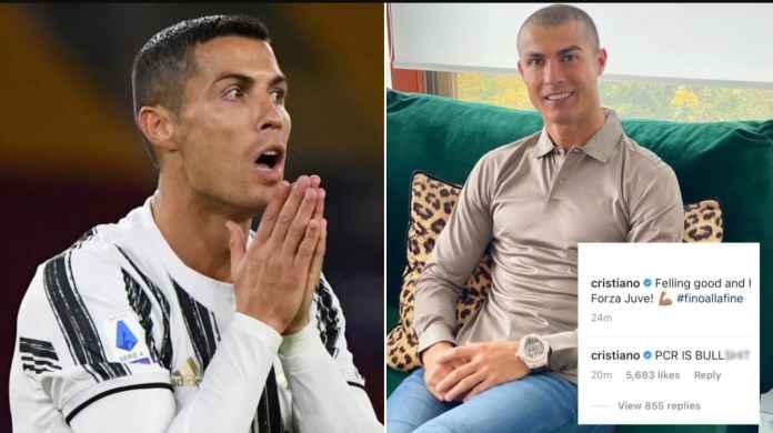 Merasa Sehat Tapi Dibilang Positif, Cristiano Ronaldo Pertanyakan Akurasi Tes PCR!