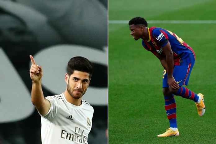 Bintang Real Madrid Marco Asensio mendukung pemulihan pemain Barcelona Ansu Fati