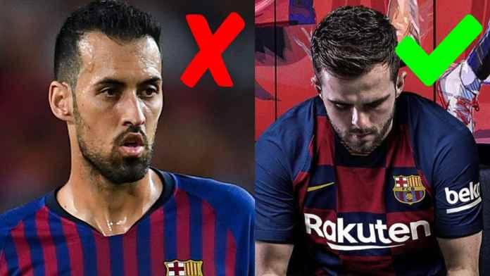 Fans Barcelona minta Sergio Busquets diganti Miralem Pjanic