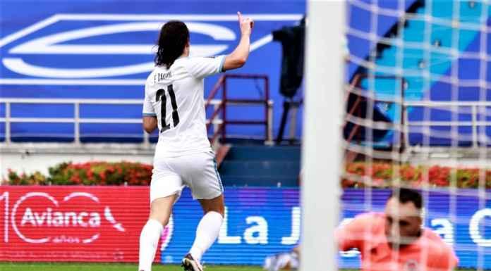 Hasil Kolombia vs Uruguay SKor AKhir - Edinson Cavani Cetak Gol Cepat