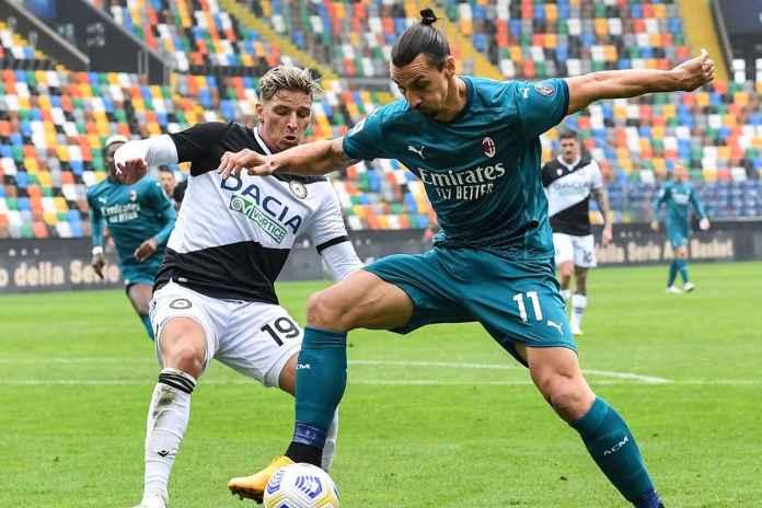Hasil Udinese vs AC Milan, Ibrahimovic Berhasil Menangkan Rossoneri
