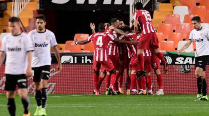 Hasil Valencia vs Atletico Madrid di Liga Spanyol skor akhir 0-1