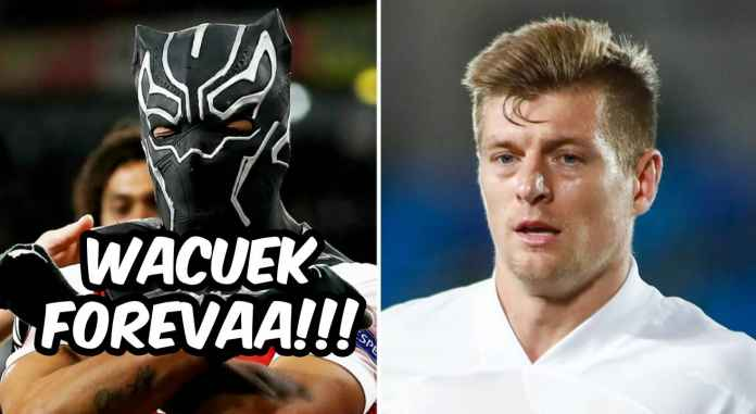 Kapten Arsenal Aubameyang balas sindiran Toni Kroos soal selebrasi topengnya