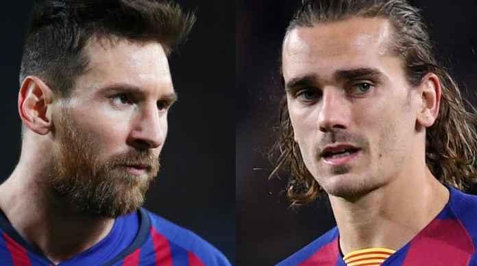 Pemain Barcelona - Lionel Messi dan Antoine Griezmann