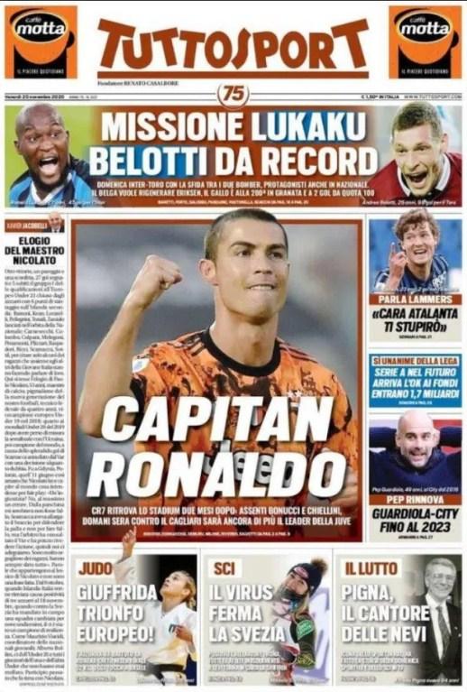 Pertama Kalinya, Cristiano Ronaldo Akan Menjadi Kapten Juventus Selama Kontra Cagliari!