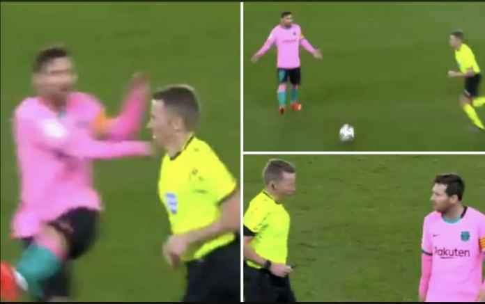 Tendang Bola ke Wasit, Lionel Messi Seharusnya Diganjar Kartu Merah!