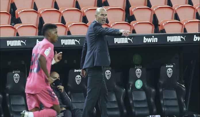 Real Madrid Terbantai 4-1, Zinedine Zidane: Saya Bertanggung Jawab