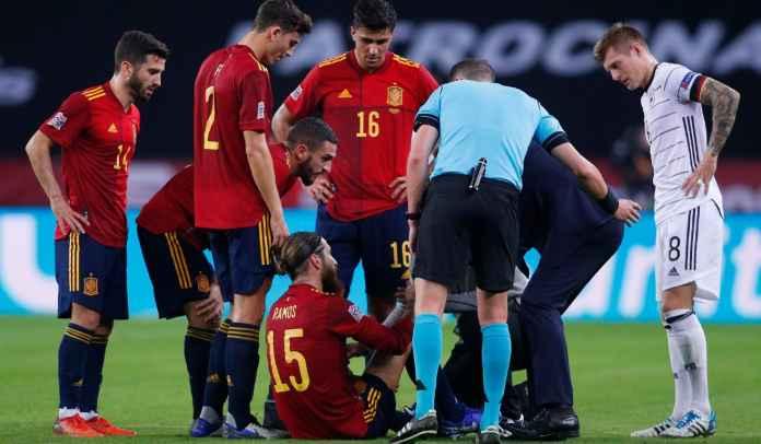 Sergio Ramos Cedera, Jadi Tumbal Kemenangan 5-0 Spanyol Atas Jerman