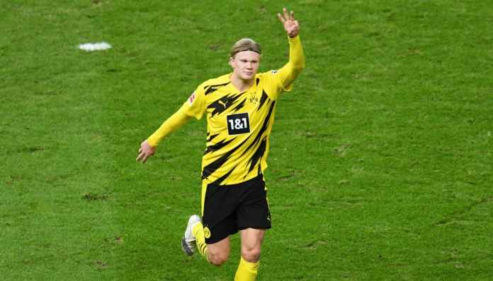Rayakan Golden Boy, Erling Haaland Bantu Dortmund Menang 2-5 di Berlin