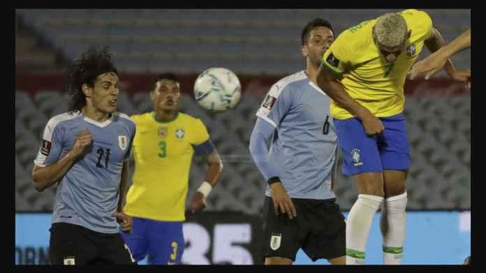 Edinson Cavani Kartu Merah! Brasil Menang 0-2 Atas Uruguay, Menjauh 5 Poin di Atas Argentina