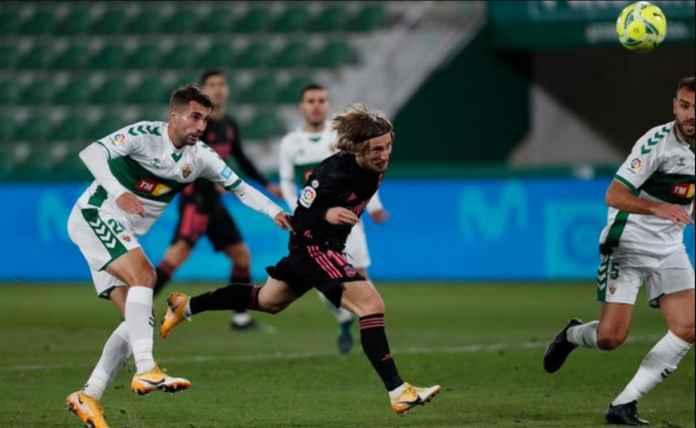 Hasil Elche vs Real Madrid di Liga SPanyol Tadi Malam - Luka Modric Cetak Gol