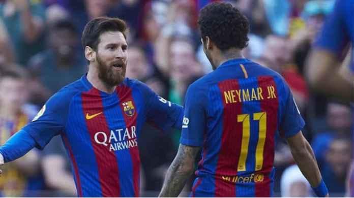Barcelona Bertemu PSG, Momen Pertama Messi Bertemu Neymar