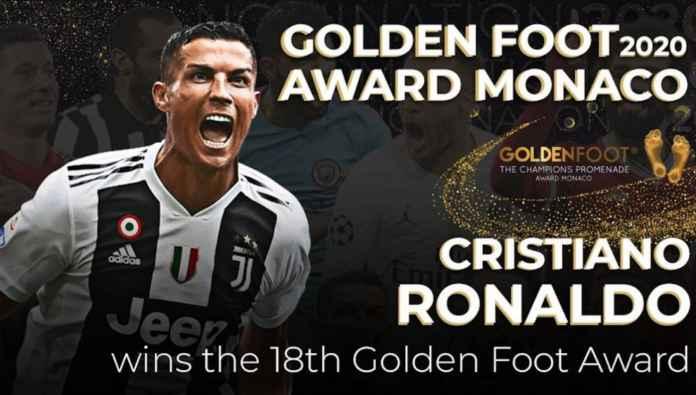Kalahkan Messi & Lewandowski, Ronaldo Menangi Penghargaan Golden Foot!