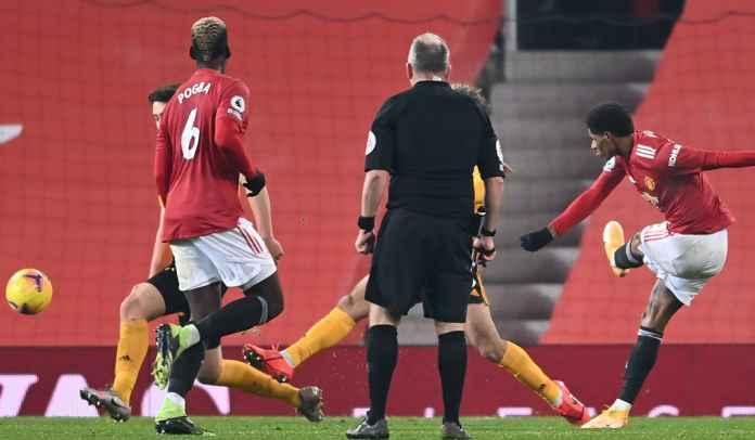 Rapor Pemain Man Utd 1-0 Wolves, Gol Dramatis Rashford, Naik Ranking Dua
