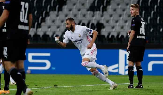 Rapor Pemain Madrid 2-0 Gladbach : Dwigol Benzema Bawa Los Blancos Lolos!