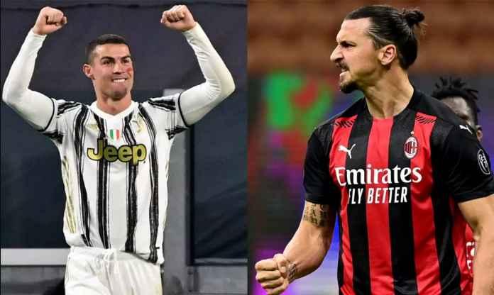 Ibrahimovic dan Ronaldo Pimpin 11 Pemain Terbaik Liga Italia Bulan November