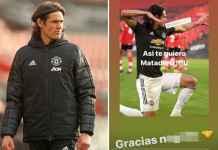 Bintang Manchester United Edinson Cavani dihukum larangan bermain tiga pertandingan karena postingan rasis