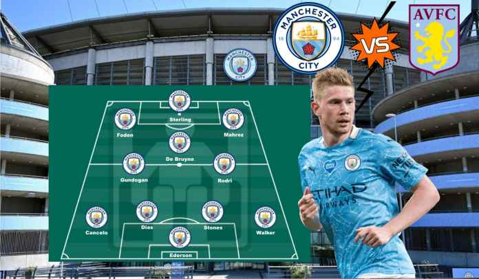 Prediksi Formasi Manchester City vs Aston Villa, Kejar Kemenangan Kelima Beruntun!