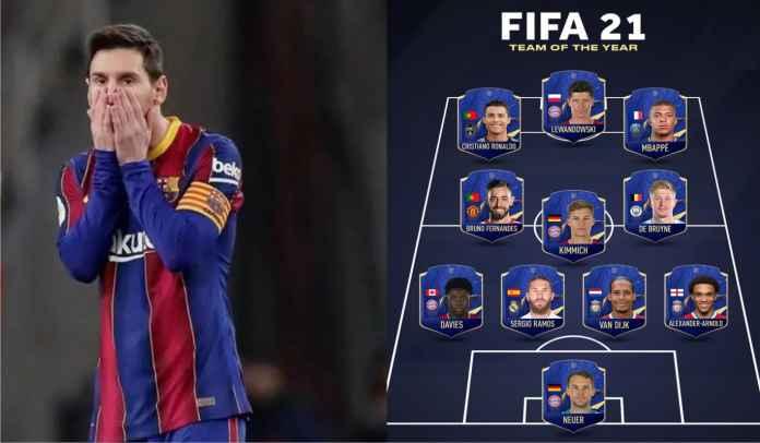 FIFA 21 Team of the Year Resmi Diumumkan, Kok Bisa Lionel Messi Tidak Masuk?