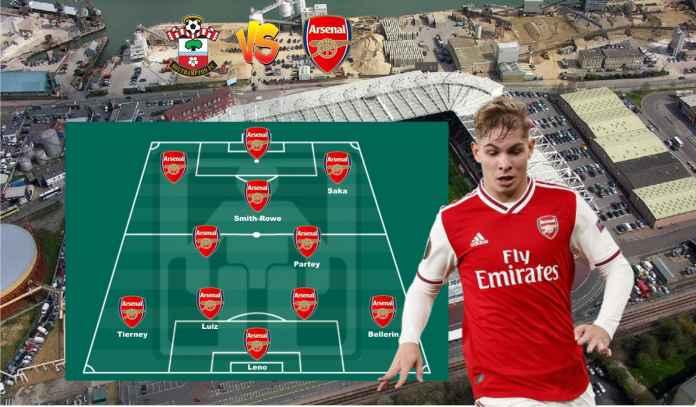 Prediksi Formasi Arsenal vs Southampton, Skuad Terbaik Demi Misi Balas Dendam