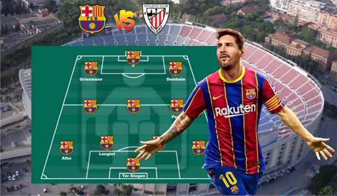 Prediksi Formasi Barcelona vs Athletic Bilbao, Lionel Messi Sudah Kembali dari Skorsing