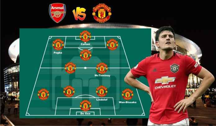 Prediksi Formasi Manchester United vs Arsenal, Tuanzebe & Martial Out, Cavani In!
