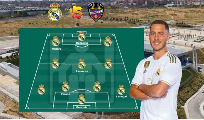 Prediksi Formasi Real Madrid vs Levante, Berharap Performa Positif Hazard Berlanjut