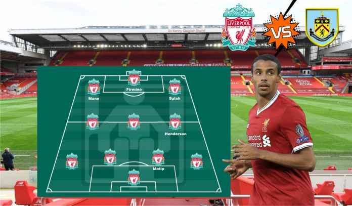 Prediksi Formasi Liverpool vs Burnley, Joel Matip Kembali, Diogo Jota Masih Absen