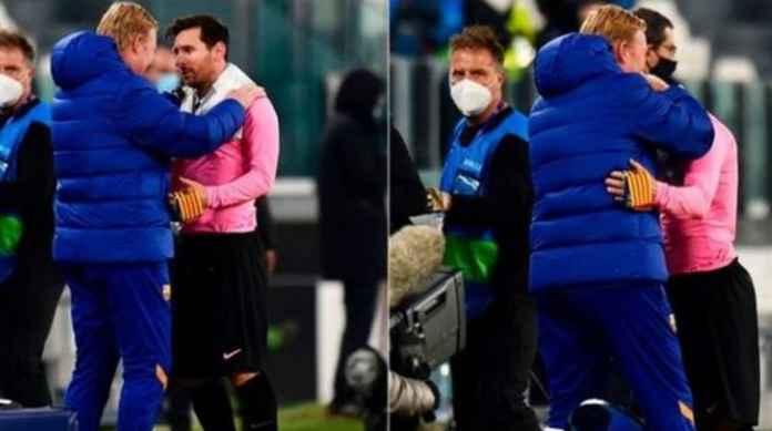 Ronald Koeman pelatih Barcelona bersama Lionel Messi