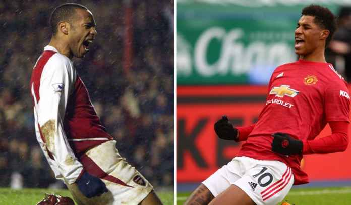 Kehebatan Marcus Rashford Ternyata Terinspirasi Dari Legenda Arsenal 228 Gol Ini