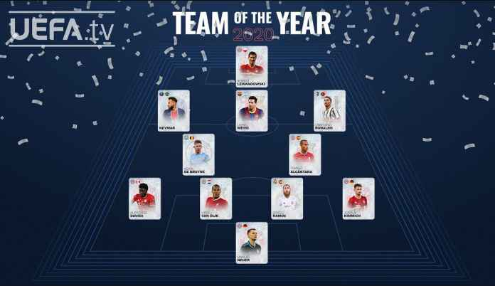 Resmi, UEFA Umumkan Team of the Year 2020 Menurut Voting Fans