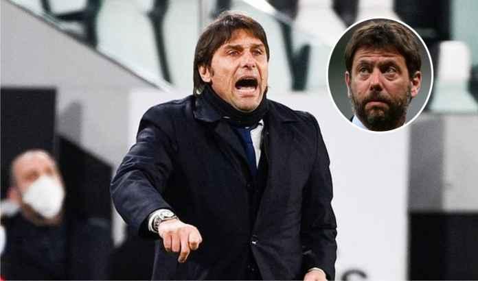 Inter Milan Gagal Lolos, Antonio Conte Maki-Maki Presiden Juventus Andrea Agnelli
