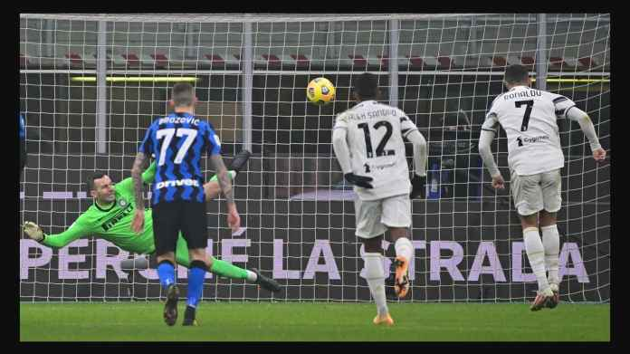 Hasil Coppa Italia: Dua Gol Ronaldo Bawa Juventus Menangi Leg Pertama Semi Final Atas Inter Milan