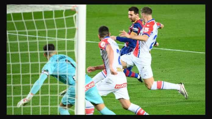 Hasil Liga Spanyol: Messi dan Pahlawan Baru Trincao Bawa Barcelona Berpesta Gol 5-1