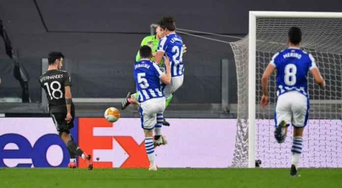 Hasil Real Sociedad vs Manchester United di Liga Europa - Bruno Fernandes