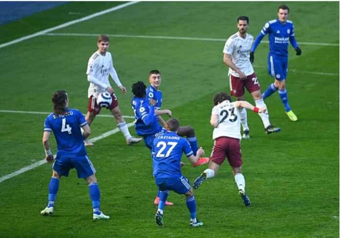 Hasil Liga Inggris: Dikalahkan Arsenal, Leicester Gagal Menggeser Man United