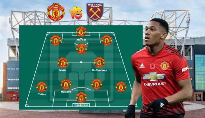 Prediksi Formasi Manchester United vs West Ham, Sayang Lingard Nggak Bisa Main