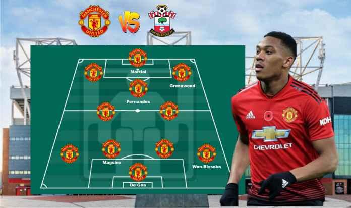Prediksi Formasi Man Utd vs Southampton, Cavani Kembali ke Bench, Martial Starter?