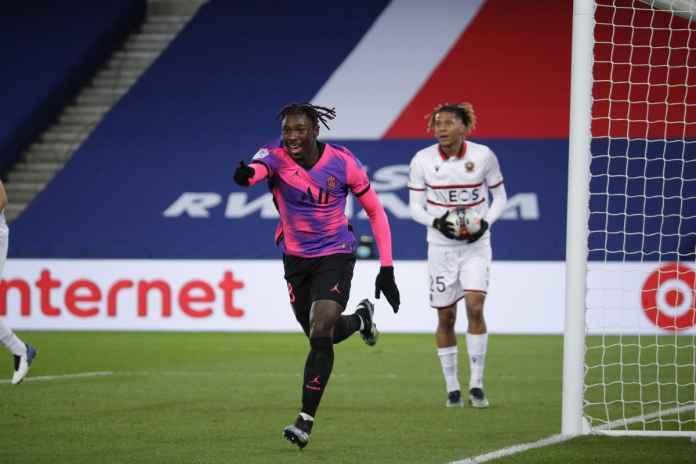 Moise Kean Moncer di PSG, Everton Dipanas-panasin