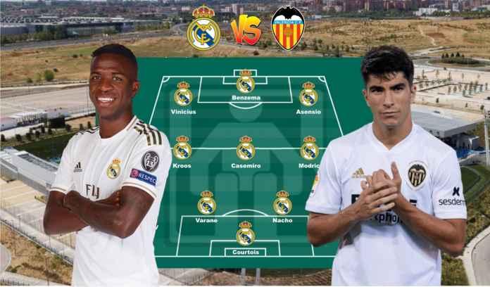 Prediksi Formasi Real Madrid vs Valencia, Rebut Kembali Runner Up dari Barcelona!