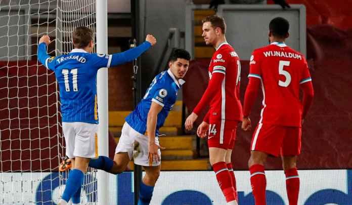Rapor Pemain Liverpool 0-1 Brighton, The Reds Hancur di Kandang Dua Kali Beruntun!