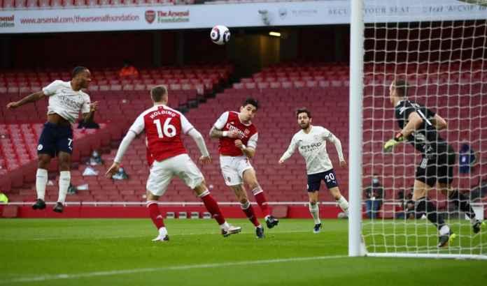 Tinggi Cuma 1,7m, Lihat Nih Gol Sundulan Sterling, Penentu Kemenangan Man City!