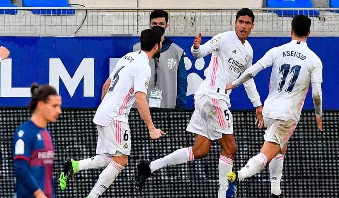 Rapor Pemain Real Madrid Menang 2-1 di Huesca, Raphael Varane Bawa Dua Gol!