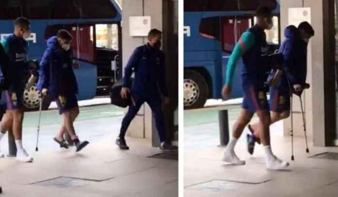 Barcelona Khawatirkan Cedera Pedri Usai Dia Terpaksa Pulang Menggunakan Kruk