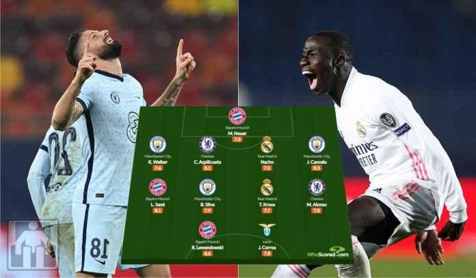 Tak Ada Olivier Giroud & Ferland Mendy di Tim XI Terbaik Liga Champions Pekan Ini