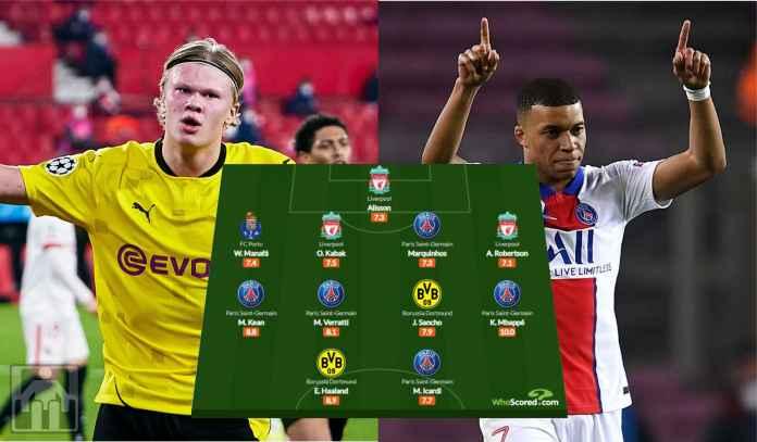 Kylian Mbappe & Erling Haaland Masuk Tim Terbaik Liga Champions Pekan Ini