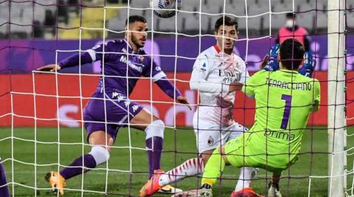 Goal Brahim Diaz versus Fiorentina