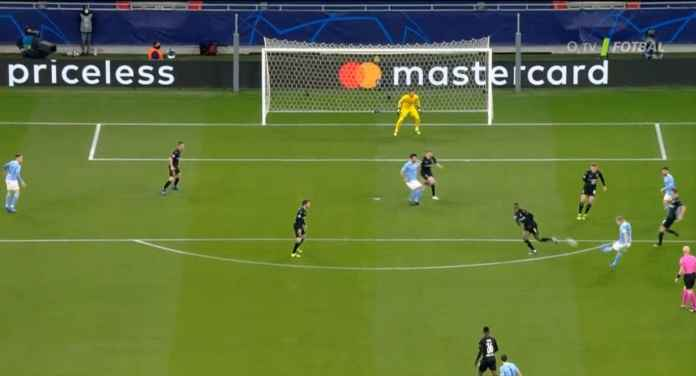 Goal Kevin de Bruyne versus Borussia Monchengladbach, Liga Champions