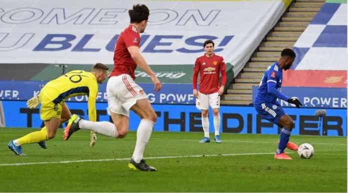 Gol Kelechi Iheanacho versus Manchester United
